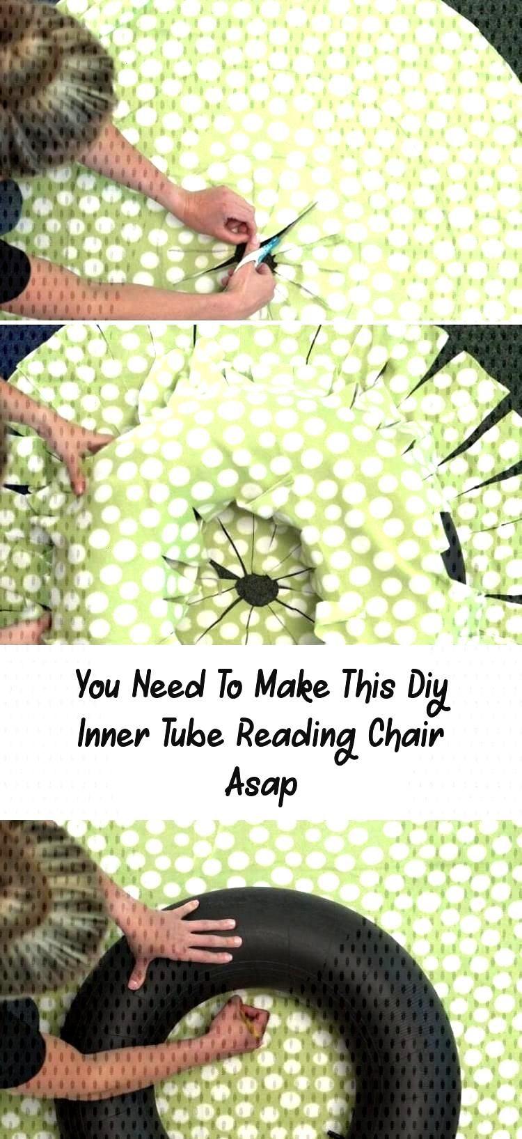 You Need to Make This DIY Inner Tube Reading Chair ASAP. OK, this DIY reading chair is seriously cu