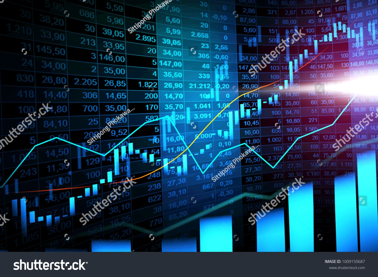 Stock Market Or Forex Trading Graph With Candlestick Chart Suitable For Financial Investment Concept Economic Tr Stock Market Candlestick Chart Online Trading
