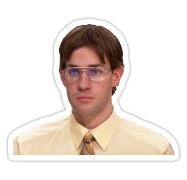 Pegatina Jim Halbert Como Dwight Schrute De Steven Sticker The Office Stickers The Office Show The Office Jim