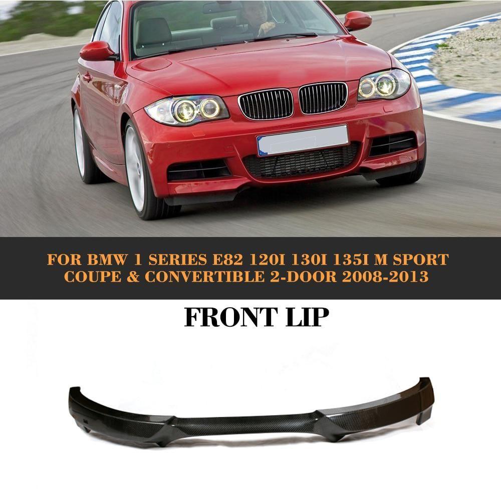 1 Series Carbon Fiber Front Bumper Lip Diffuser For Bmw E82 120i