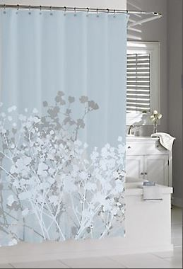 Willow Shower Curtain Spa Blue Blue Shower Curtains Spa Blue