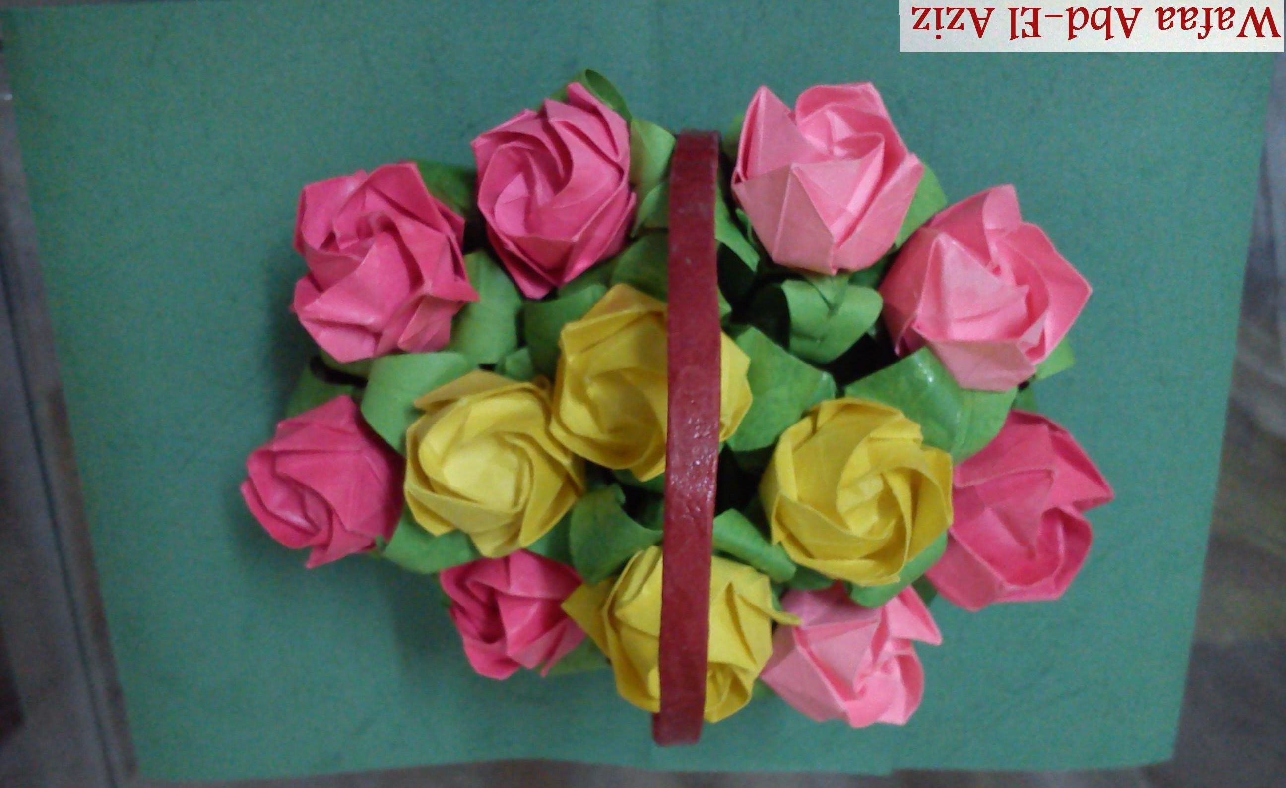 Origami Flower Basket My Origami Works Pinterest Flower Basket