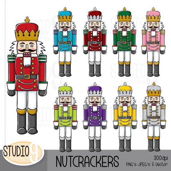 nutcrackers clipart illustrations christmas clip art instant rh pinterest com nutcracker clip art images free nutcracker clip art black and white vector