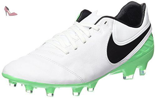 Nike Tiempo Legacy II, Chaussures de Football Entrainement Homme, Blanc  (White/Black