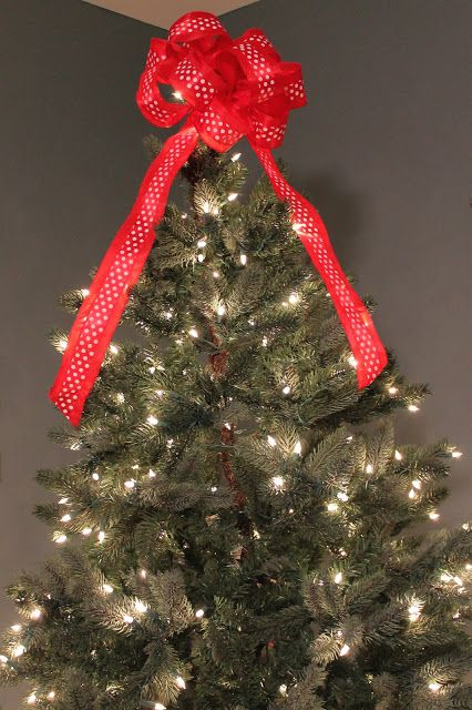 Christmas Tree Bow Topper Tutorial Definitely Next Year Christmas Tree Bows Christmas Tree Topper Bow Christmas Bows