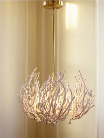 Coral chandeliers by moth design decorating a beach cottage coral chandeliers by moth design aloadofball Gallery