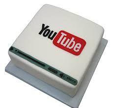 Youtube Logo Cake Cake Youtube Youtube Birthday Birthday Cake