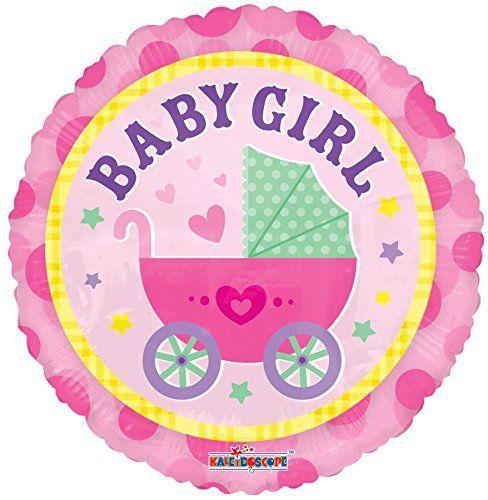 BABYWAGEN FOLIENBALLON GIRL BABY MÄDCHEN ROSA LUFTBALLON BABYSHOWER GEBURTSTAG