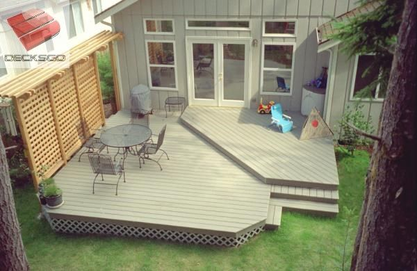 Split Level Deck Near Ground Photo Deck Designs Backyard Deck Pictures Deck