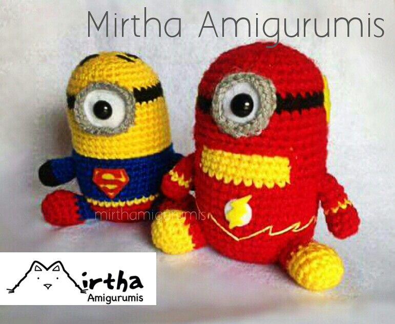 Super heroes minions Amigurumis by Mirtha Amigurumis #minion ...