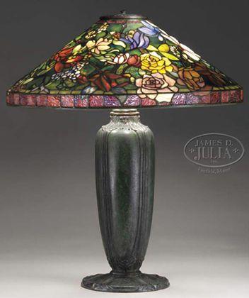 Joseph Porcelli Art Glass Lamp Tiffany Style Lamp Tiffany Lamp Shade