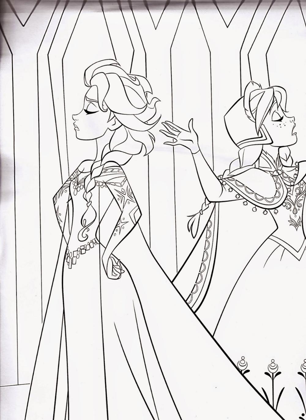 93 Colour Frozen Disney Princess Coloring Pages Halaman Mewarnai Frozen Disney Disney