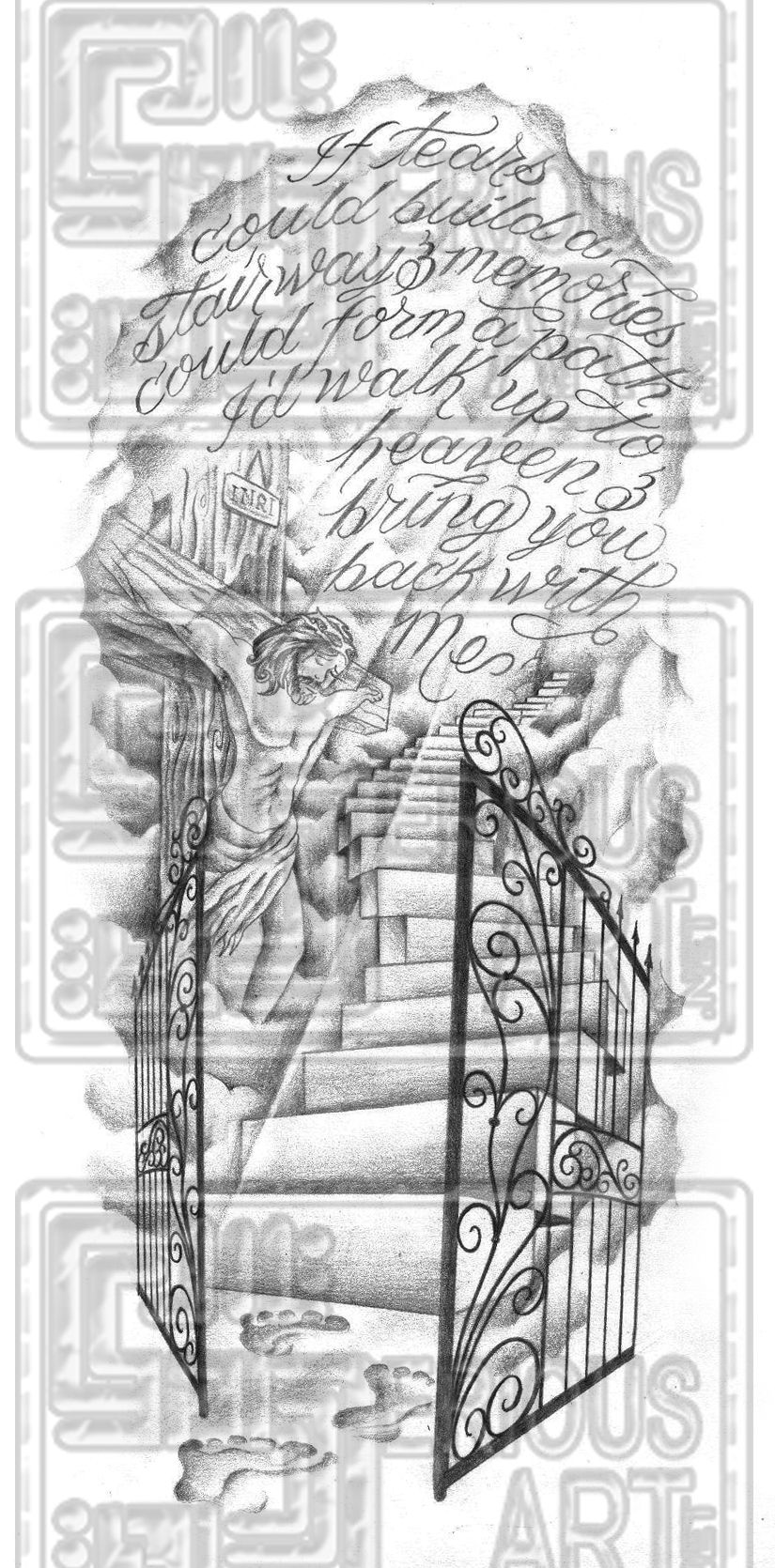 Looks Nice Heaven Tattoos Stairway To Heaven Tattoo Gates Of Heaven Tattoo