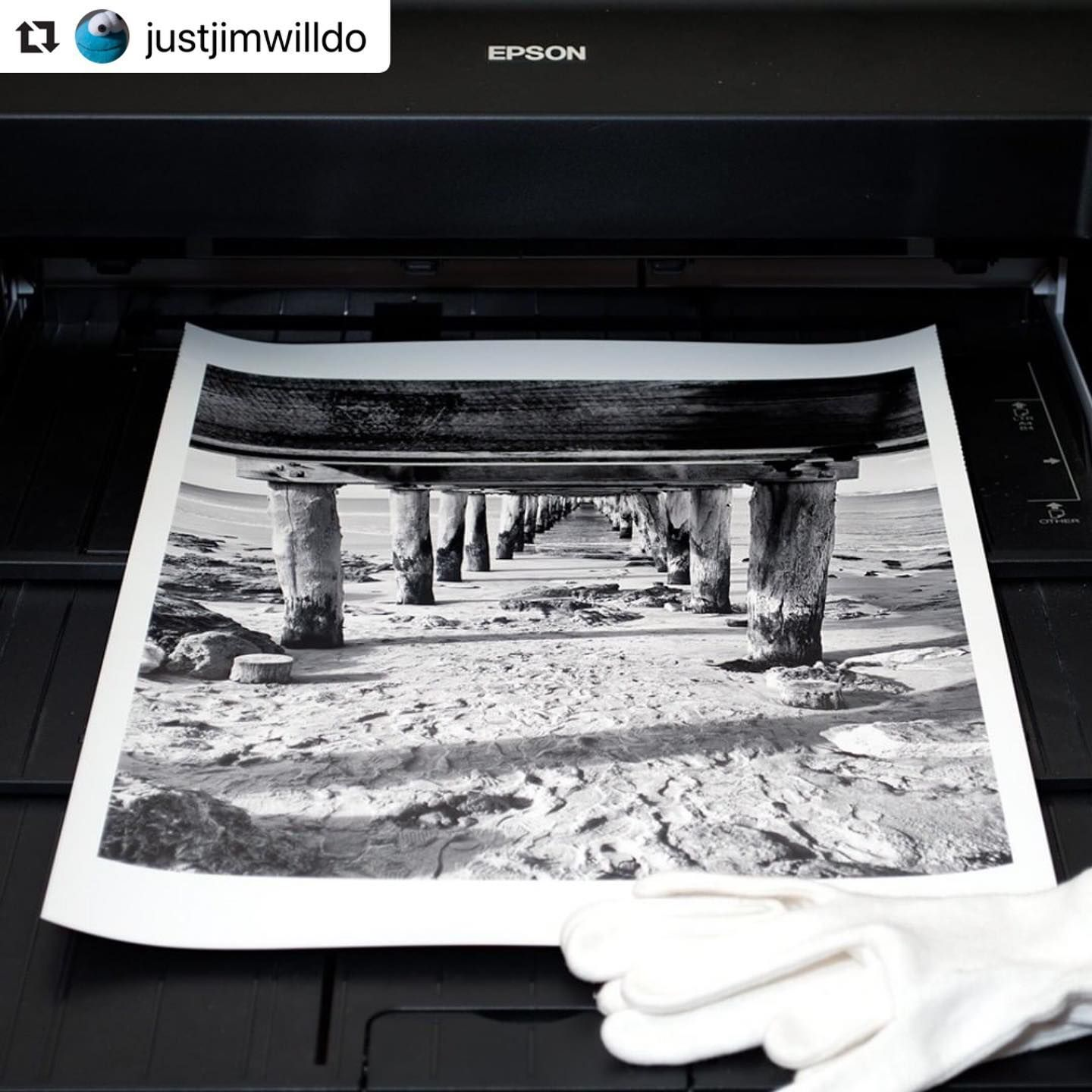 Repost Justjimwilldo I Haven T Done Much Full On Editing And Printmaking For A While Now It Was Good To Pul In 2020 Print Images Mickey Mouse Gloves Monochrome