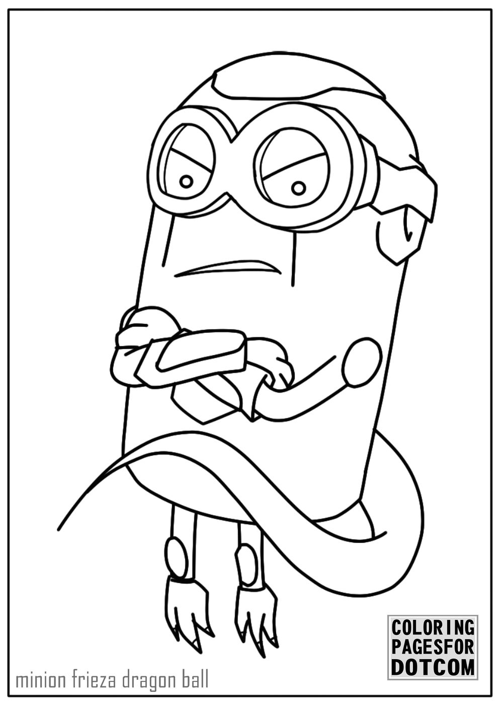minion frieza dragon ball coloring page is free to download but