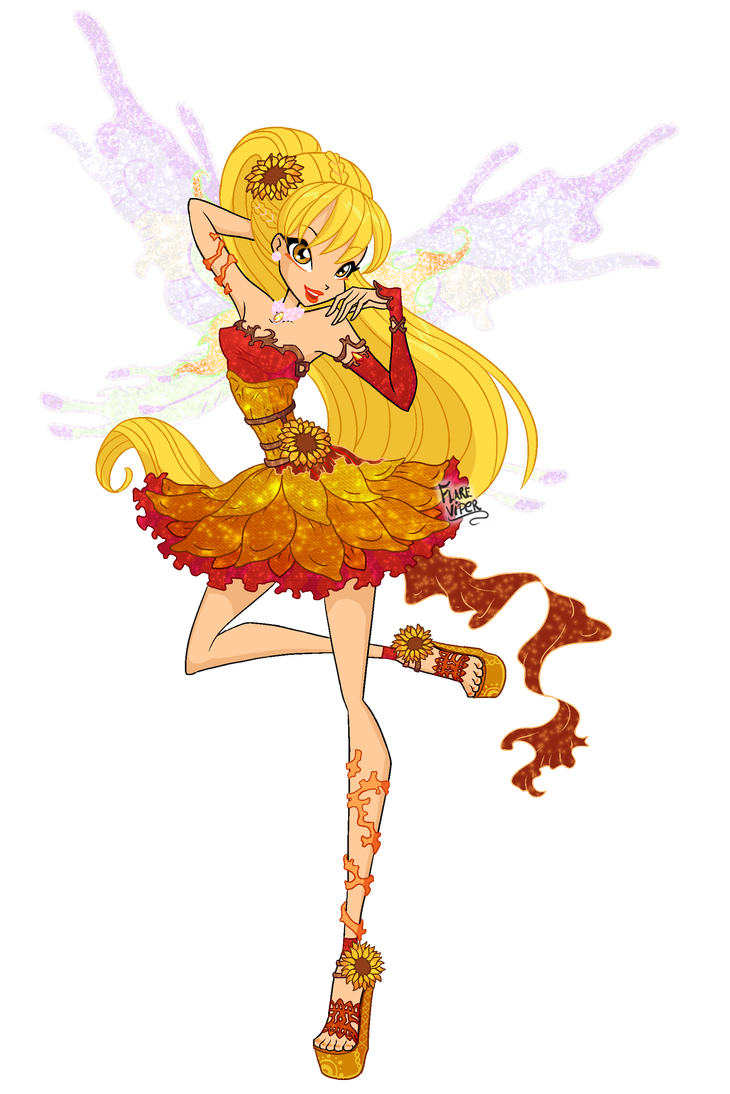 Winx Stella Nymphix The Sunflower Of Solaria By Flareviper Bloom Winx Club Winx Club Character Sketch
