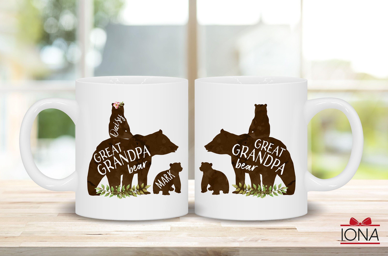 Great grandpa bear mug great grandpa bear with cubs