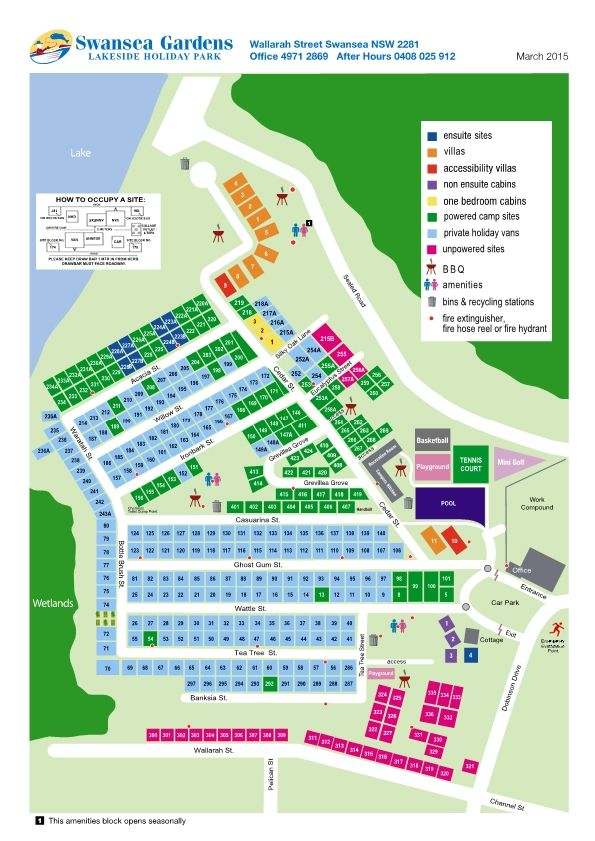 Swansea Park Map
