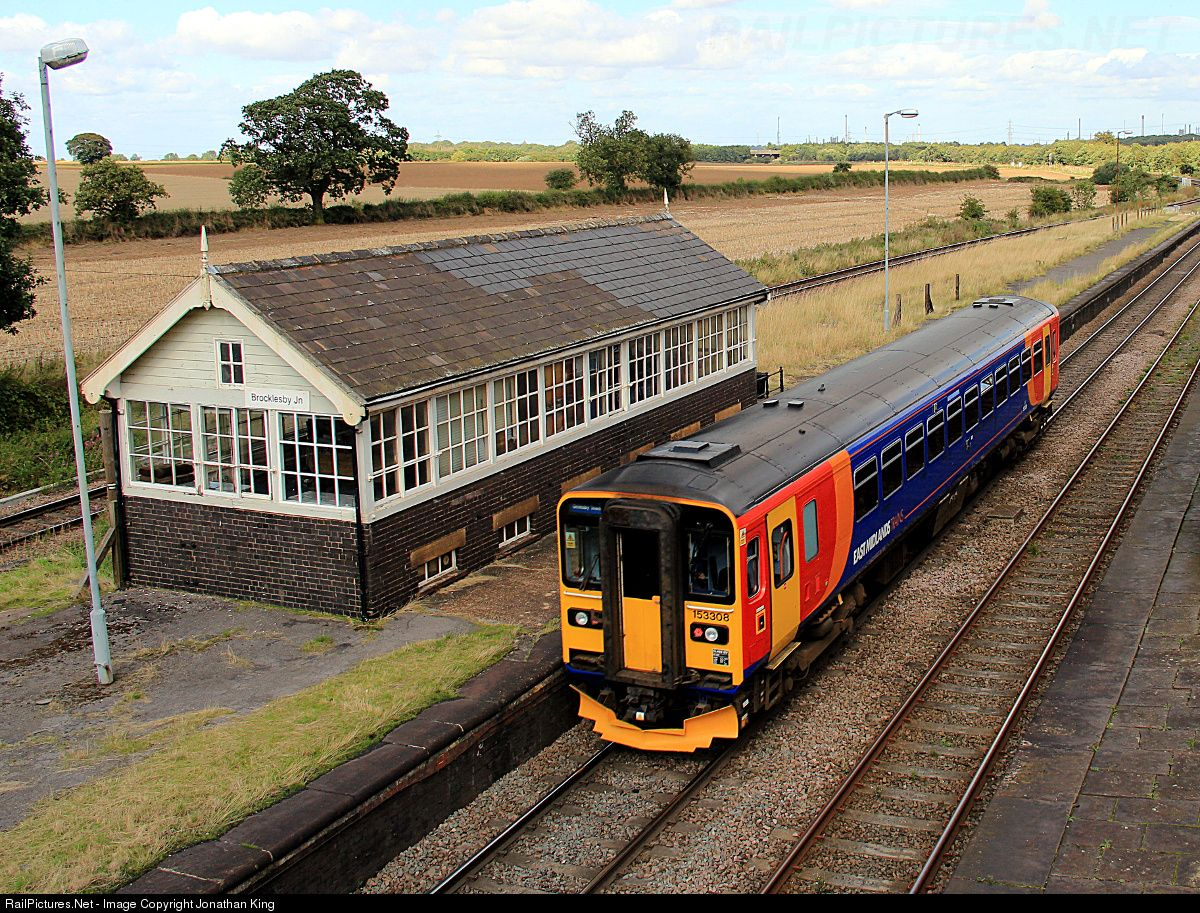 RailPictures.Net Photo: 153308 East Midlands Trains BR Class 153 at Brocklesby Junction, Lincolnshire, United Kingdom by Jonathan King