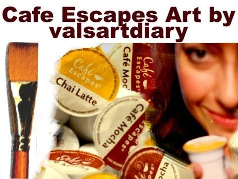 Cafe Escapes Art - Collage made with Mocha and Chai Latte K-Cups