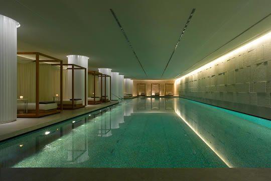 Bulgari Hotel London spa breaks from £11000 Swimming pool - modernes design spa hotel