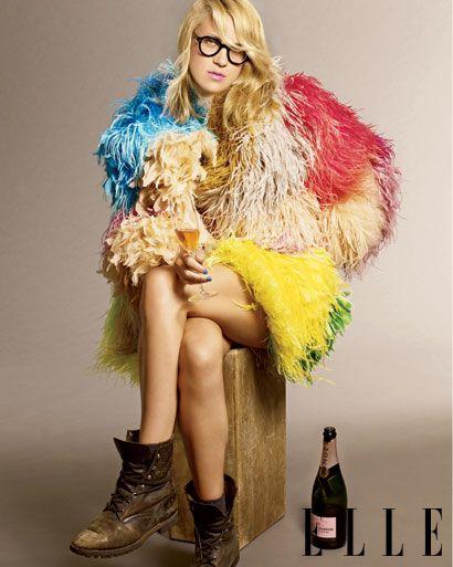 Fringe, shaggy jacket, color