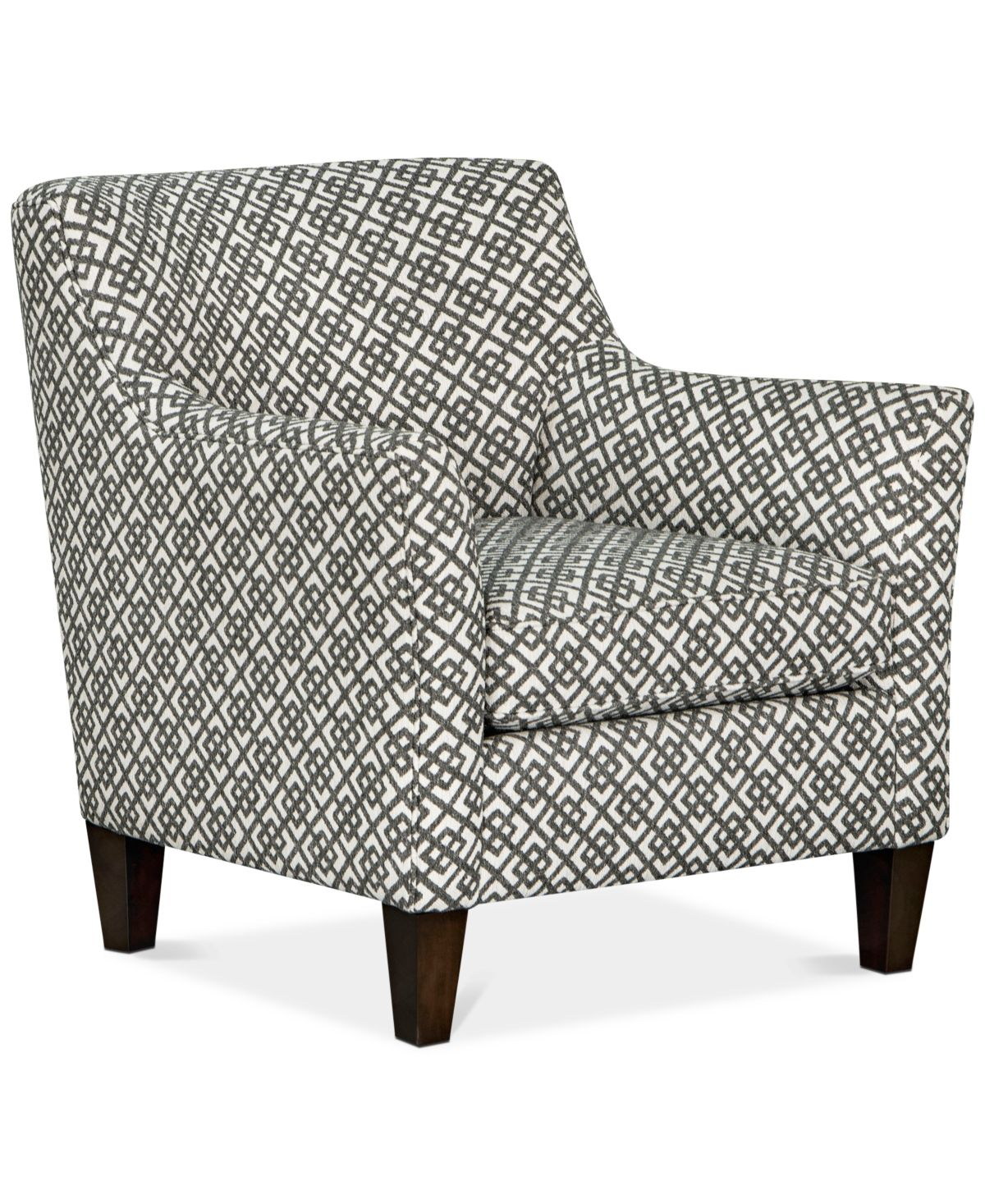 Juliam Fabric Accent Chair Created For Macy S Lauder Pewter