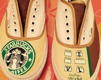 Custom Starbucks Inspired Shoes by