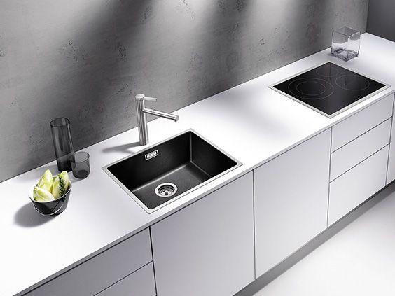 BLANCO SUBLINE 500-IF SteelFrame, black, kitchen sink   BLANCO ...