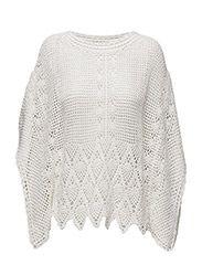 Crochet poncho - NATURAL WHITE