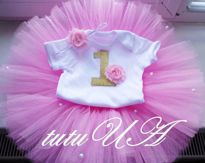 Primer Cumpleanos Traje Chica Chica 1st Bday Traje Primer Etsy Baby Girl Birthday Tutu Birthday Dresses Birthday Tutu Outfit
