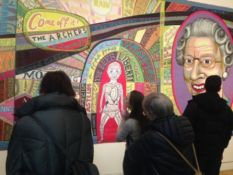 Grayson Perry UK tapestry at National Portrait Gallery
