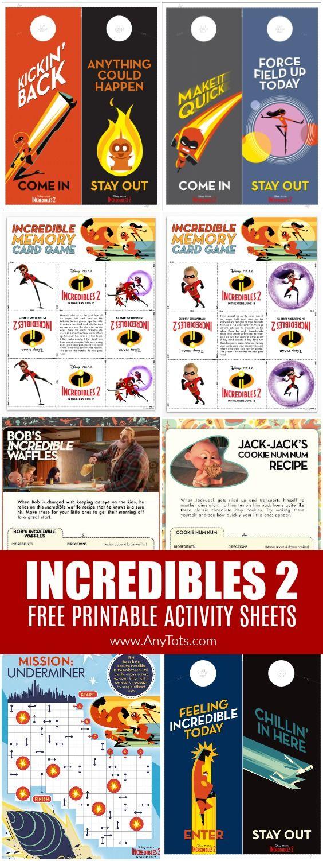 Incredibles 2 Free Printable Activity Sheets