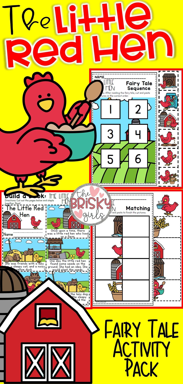 Fairy Tales Kindergarten The Little Red Hen Activities
