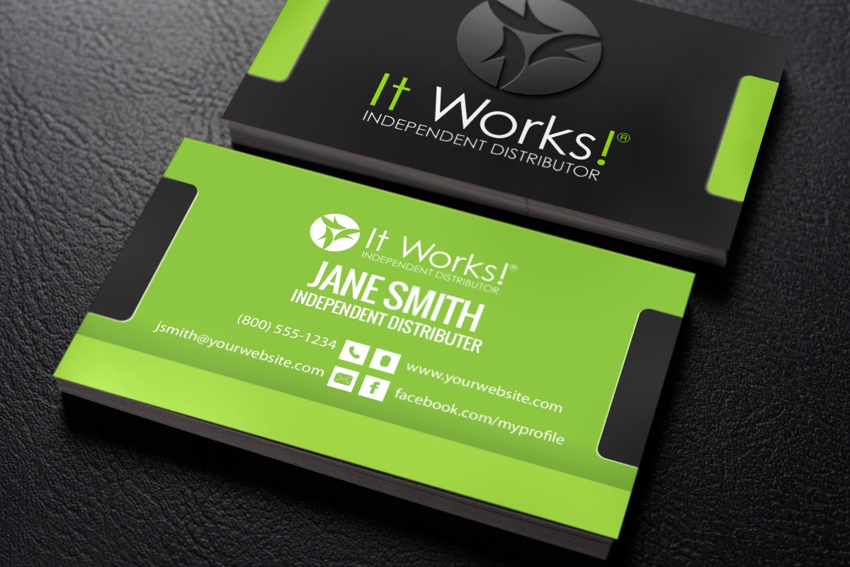 It Works Distributors Can Make And Print New Business Cards All At Once With Our On Site Card Creator Mlm It It Works Printing Business Cards Business Cards