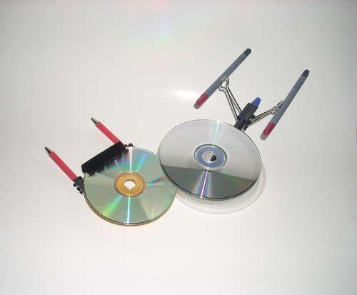 Build The Starship Enterprise From Useless Office Supplies Enterprisestar Trek