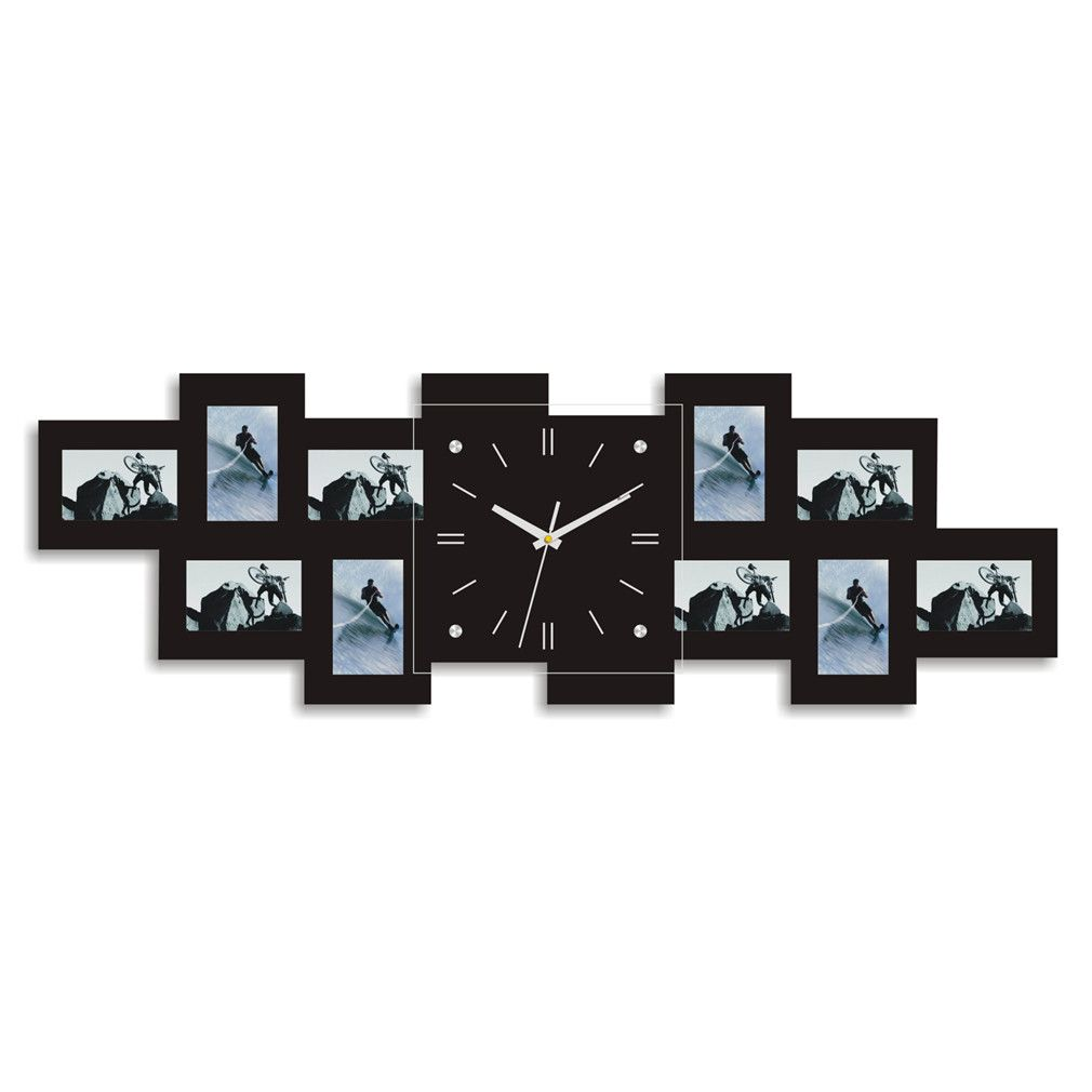 Modern designer 10 photo picture frame family album display wall modern designer 10 photo picture frame family album display wall clock for home living amipublicfo Gallery