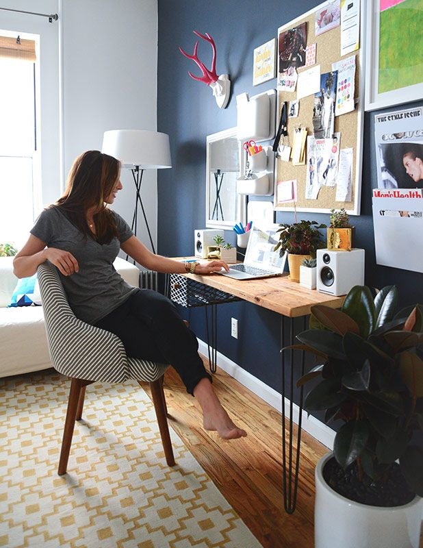 ANTES E DEPOIS HOME OFFICE Hale Navy Benjamin Moore