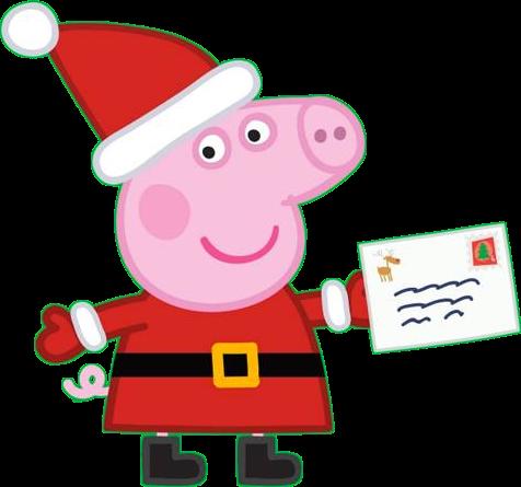 Peppa Pig Natale.Immagini Peppa Pig Vestita Da Babbo Natale Cartoni Animati Peppa Pig Babbo Natale Immagini Di Natale