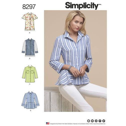Simplicity Pattern 8297 Misses\' Shirts | Sewing Techniques ...