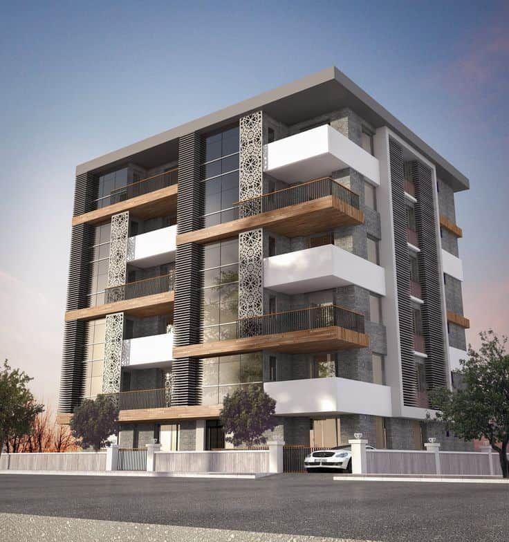 29 asombrosas fachadas de edificios modernos todo for Maquetas de apartamentos modernos