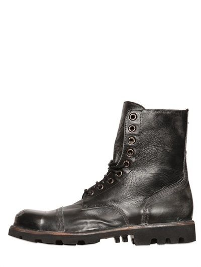 669d05a8806 Pin by Lookastic on Brogue Boots & Combat Boots | Black leather ...