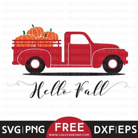 FREE SVG & PNG Link   Fall Pumpkin Truck Cut Files, svg, png