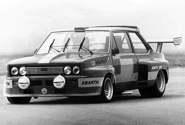 1975 Fiat Abarth 131 Promotional Race Photo Poster Fiat Abarth