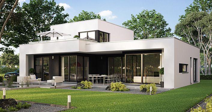 Architekten haus casaretto b denbender hausbau bungalow for Minimalistisches haus grundriss