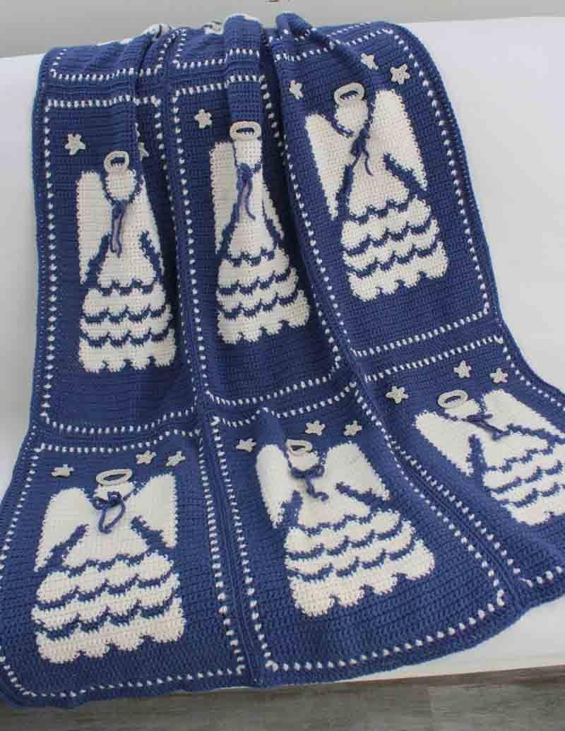 Angel Afghan Crochet Pattern | Wolldecke, Engelchen und Frohe