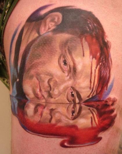 American Beauty Tattoos : american, beauty, tattoos, Kevin, Spacey, American, Beauty, Tattoo., Tattoos,, Beauty,, Portrait, Tattoo