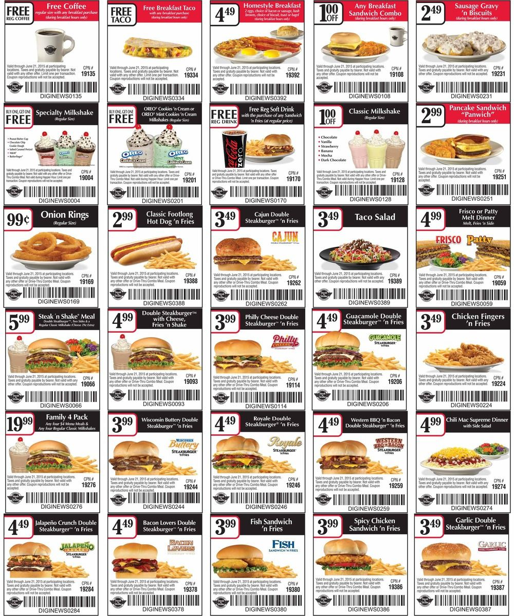 photo about Steak and Shake Coupons Printable named Pinned April 23rd: #Cost-free espresso taco with your breakfast