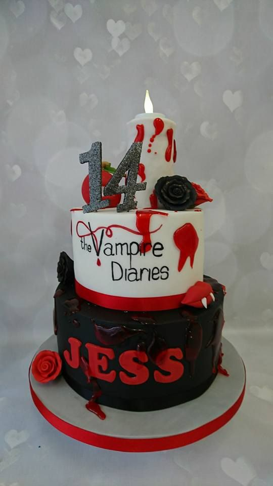 Vampire Diaries Cake For Jess 14 Hale Bday Cake Ideas In 2018