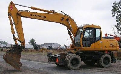 hyundai r200w 7 wheel excavator workshop service repair manual download